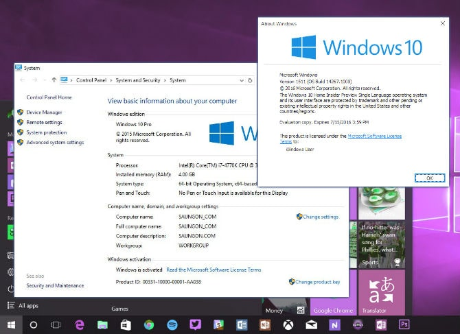 Produk key Windows 10
